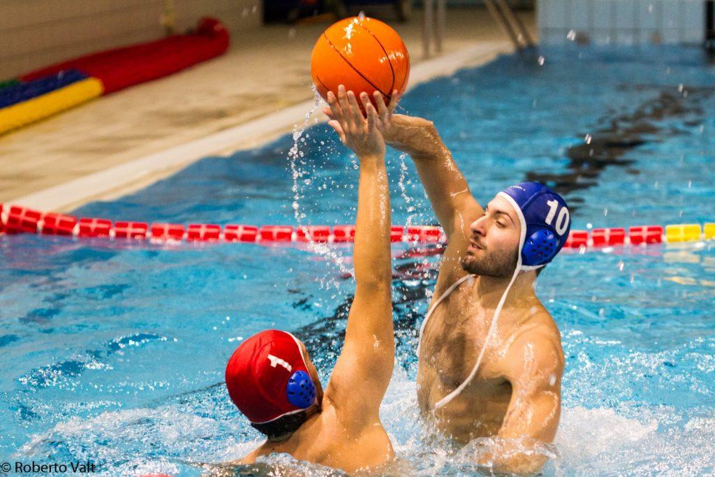 waterbasketball player defending